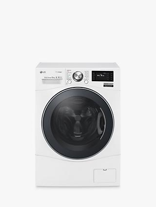 LG FH6F9BDS2 Freestanding Washing Machine, 12kg Load, A+++ Energy Rating, 1600rpm Spin, Enamel White