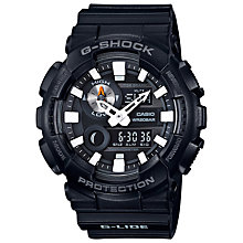 Buy Casio GAX-100B-1AER Men's G-Shock G-lide Tide Graph Resin Strap Watch, Black Online at johnlewis.com