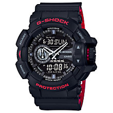 Buy Casio GA-400HR-1AER Men's G-Shock Day Date Resin Strap Watch, Black Online at johnlewis.com