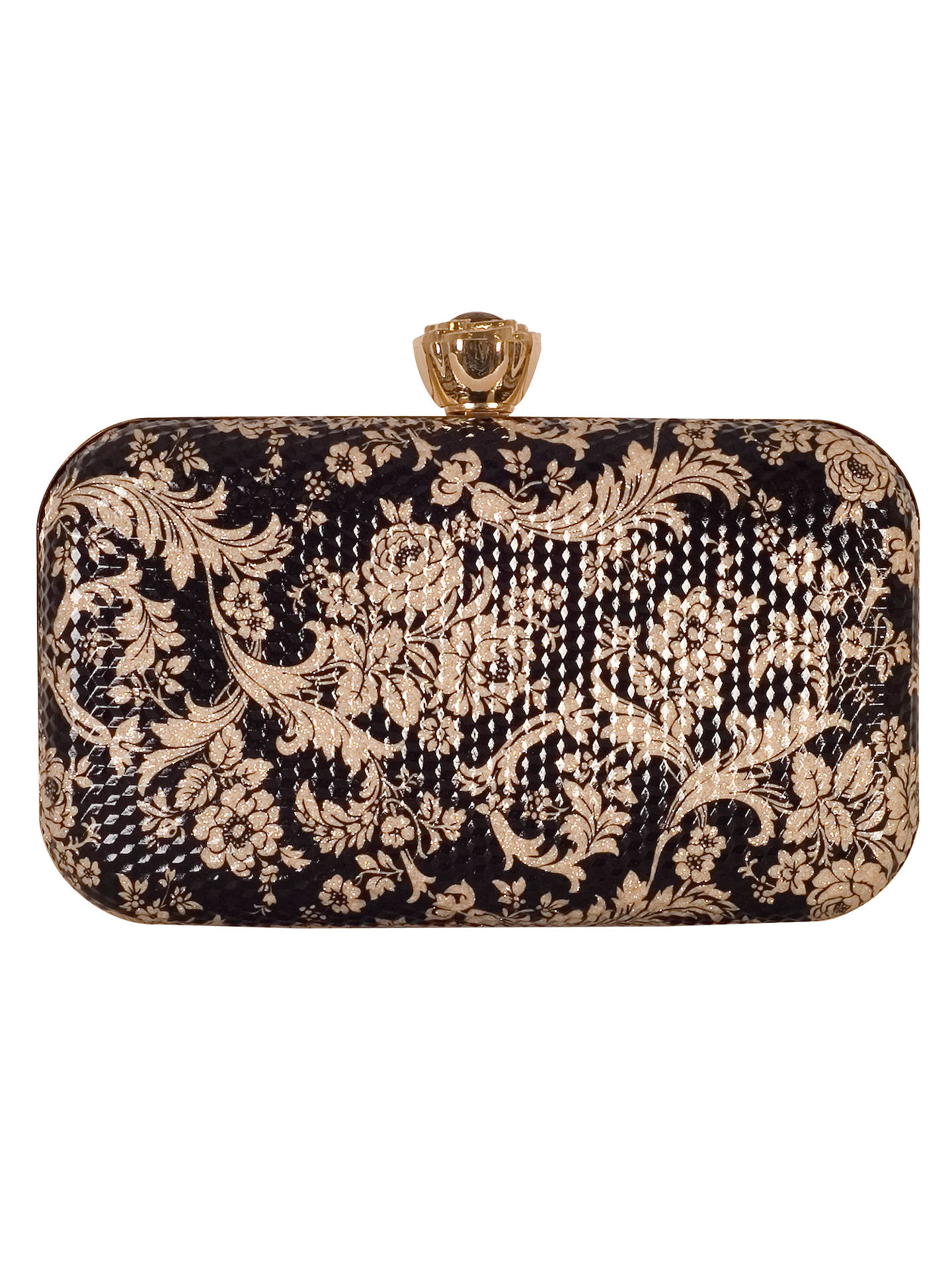 exquisite style great deals 2017 in stock Chesca Floral Clutch Bag, Black/Gold