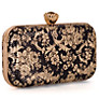 Buy Chesca Floral Clutch Bag, Black/Gold Online at johnlewis.com