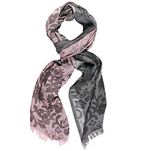 Buy Chesca Floral Printed Scarf, Pink/Grey Online at johnlewis.com