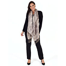 Buy Chesca Jacquard Butterfly Scarf, Silver/Grey Online at johnlewis.com