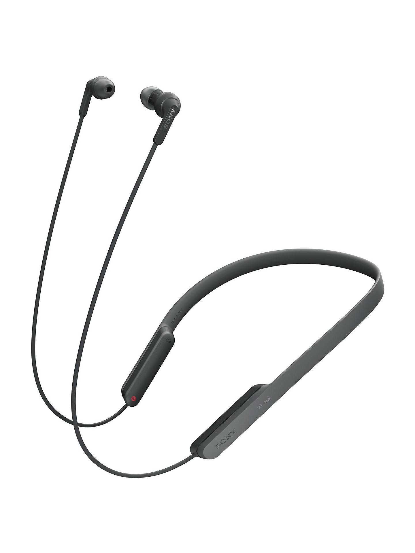 Buy Sony MDR-XB70BT Extra Bass Bluetooth NFC Wireless Wraparound In-Ear Headphones with Remote, Mic & Volume Control, Black Online at johnlewis.com