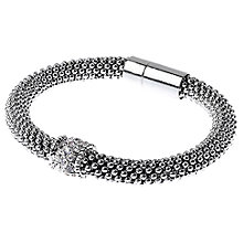 Buy Adele Marie Fine Bead Pave Rope Bracelet, Silver Online at johnlewis.com