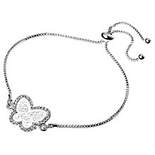 Buy Adele Marie Filigree Butterfly Pave Set Adjustable Bracelet Online at johnlewis.com