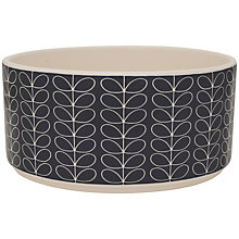 Buy Orla Kiely Linear Stem Salad Bowl, Slate Online at johnlewis.com