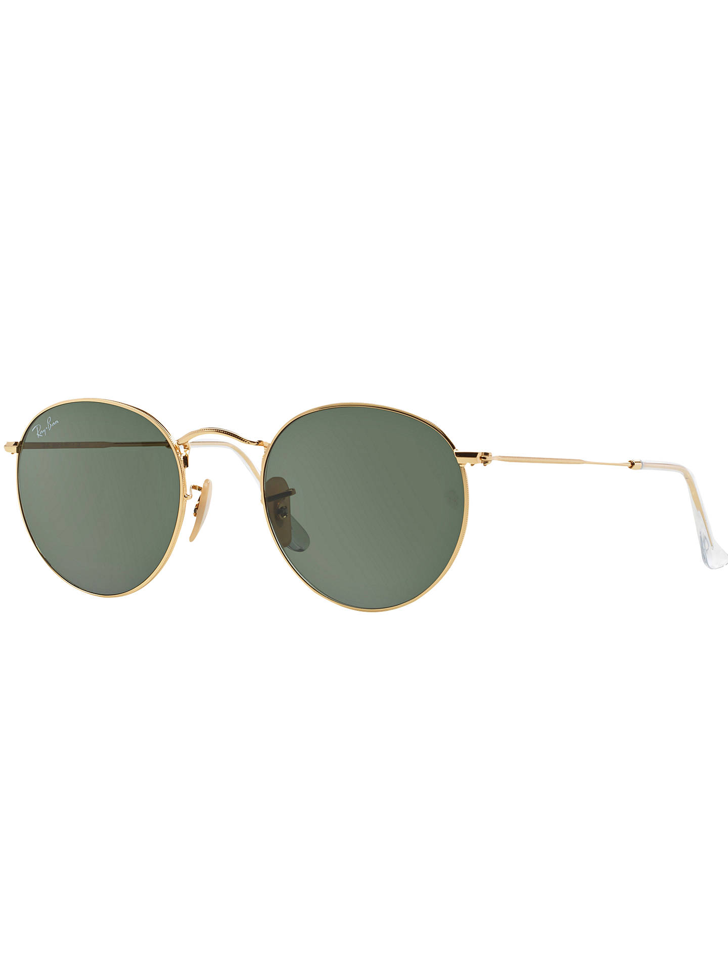 f78b2402e1 Ray-Ban RB3447 Round Metal Sunglasses at John Lewis   Partners