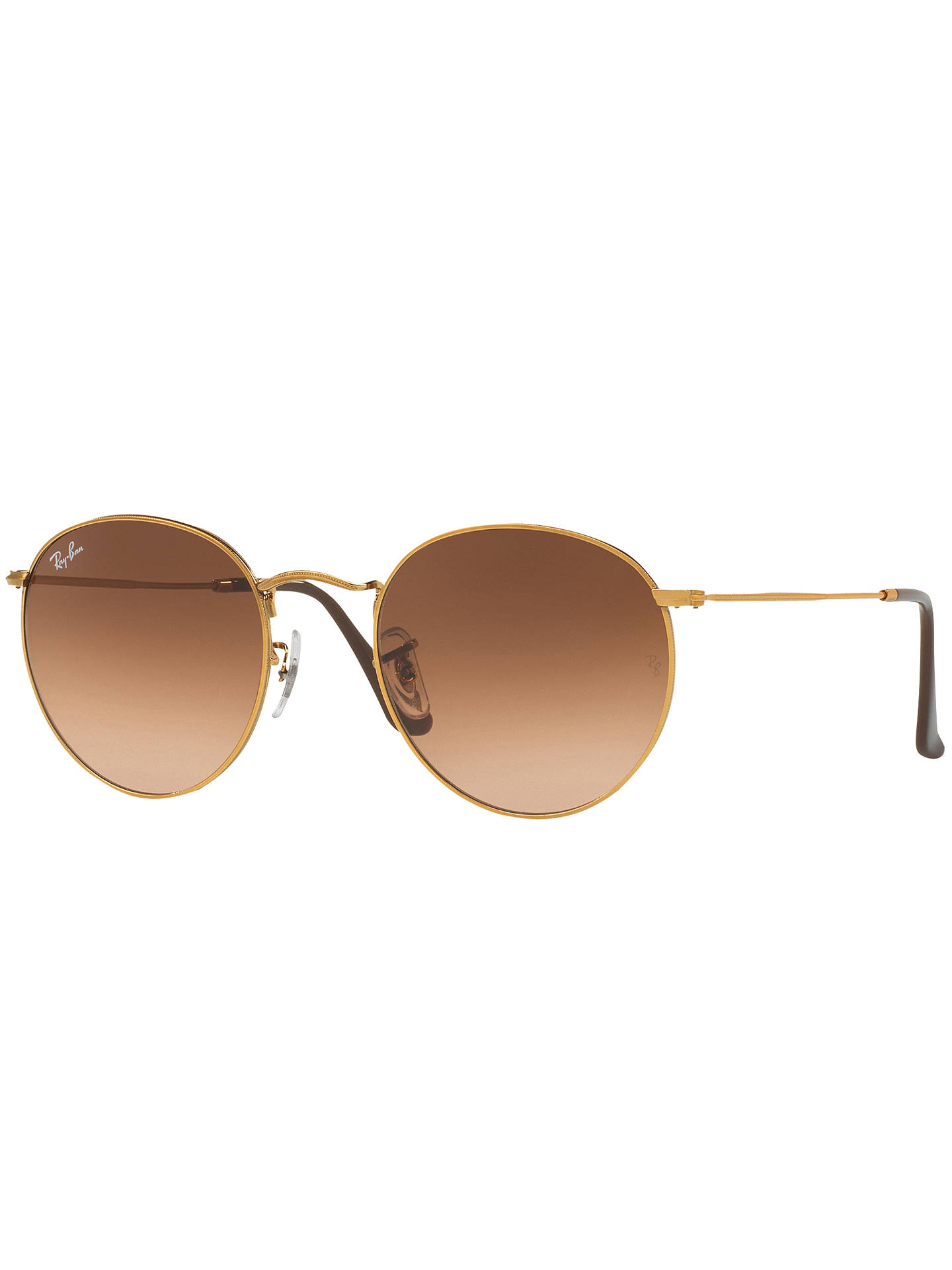 BuyRay-Ban RB3447 Round Sunglasses, Gold/Dark Pink Online at johnlewis.com