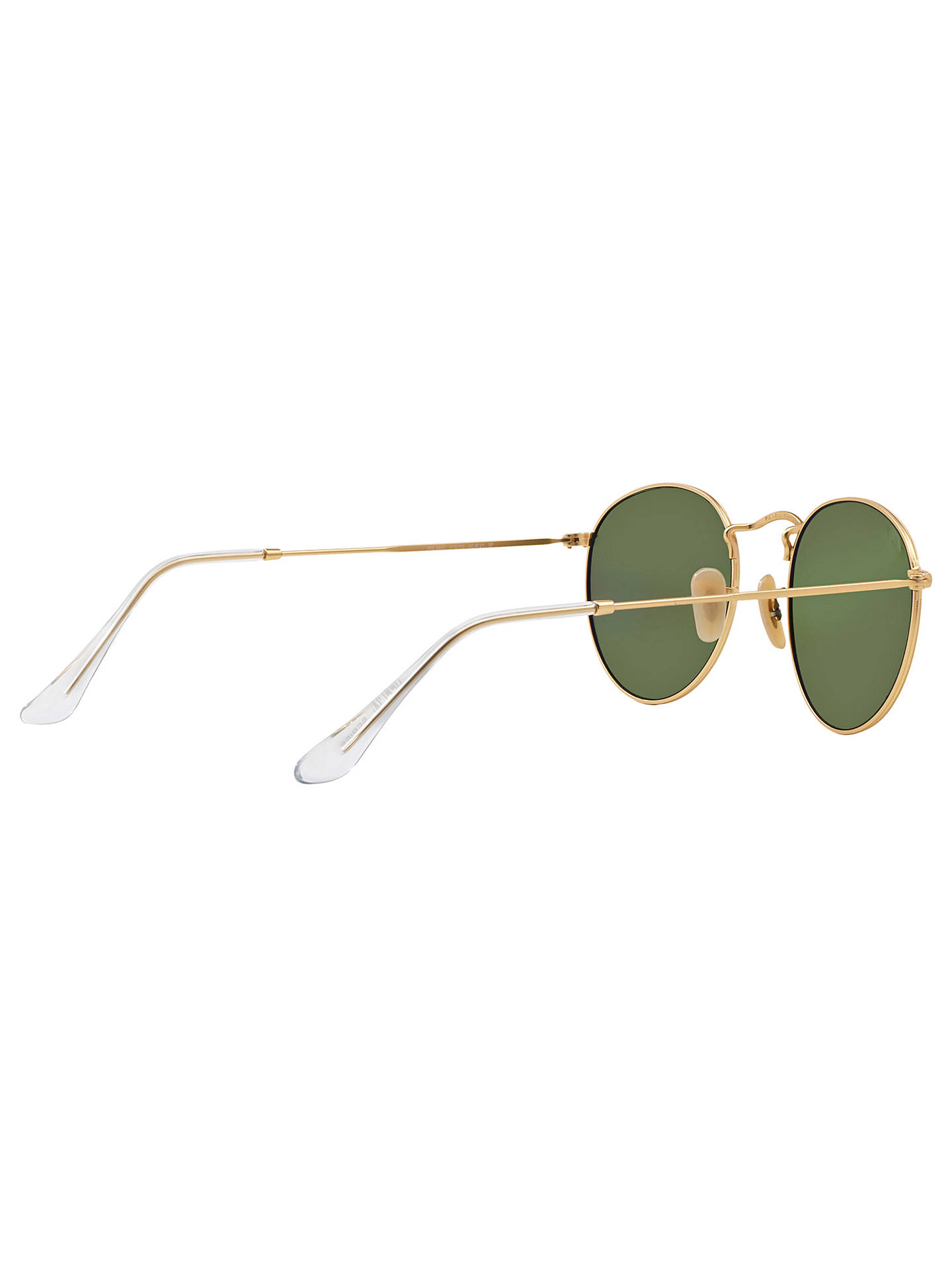 BuyRay-Ban RB3447 Polarised Oval Sunglasses, Gold/Mirror Green Online at johnlewis.com
