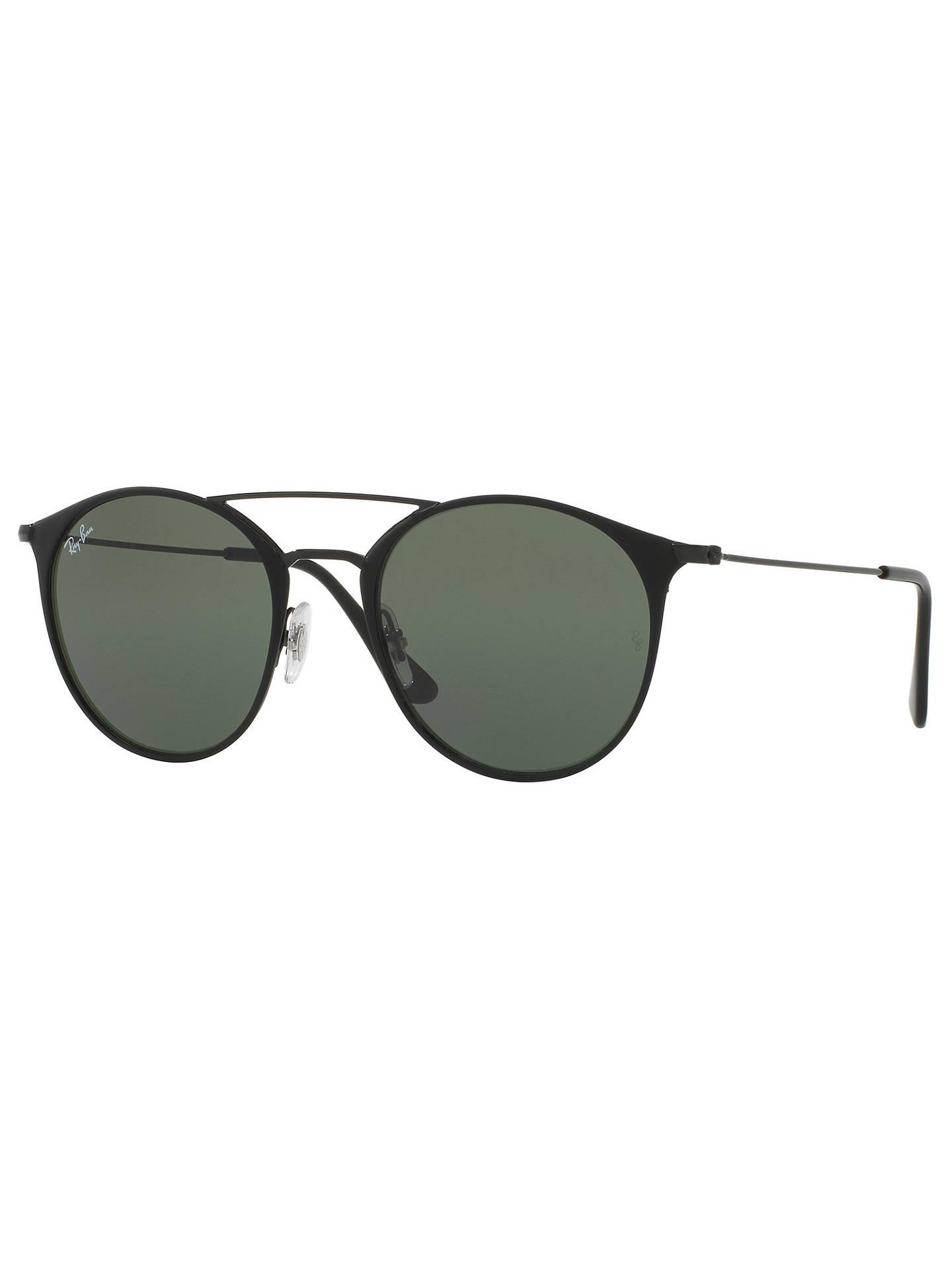 BuyRay-Ban RB3546 Oval Sunglasses, Black/Dark Green Online at johnlewis.com