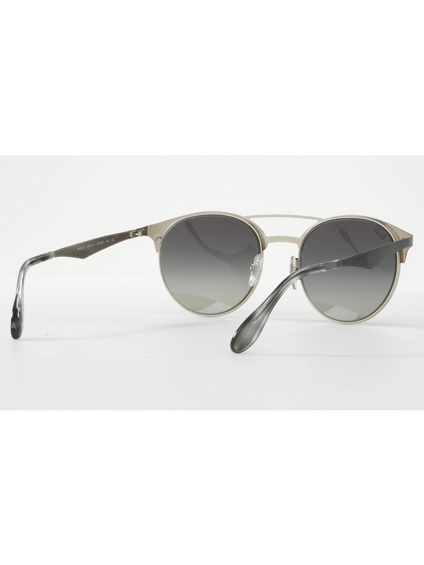 Buy Ray-Ban RB3545 Oval Sunglasses, Black/Grey Gradient Online at johnlewis.com