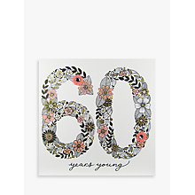 Buy Rachel Ellen Azalea Age 60 Peach Flower Birthday Card Online at johnlewis.com