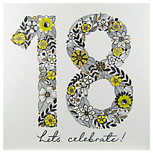 Buy Rachel Ellen Azalea Age 18 Yellow Flower Birthday Card Online at johnlewis.com