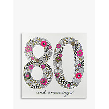 Buy Rachel Ellen Azalea Age 80 Pink Flower Birthday Card Online at johnlewis.com