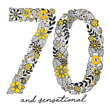 Buy Rachel Ellen 70 and Sensational Birthday Card Online at johnlewis.com