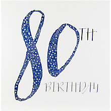 Buy Belly Button Designs 80th Birthday Card Online at johnlewis.com