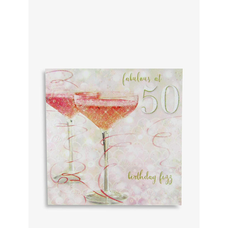 Woodmansterne Champagne 50th Birthday Card At John Lewis