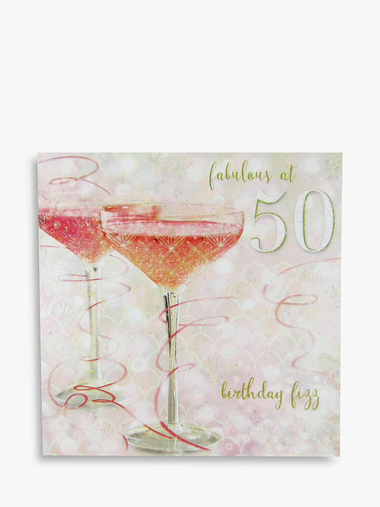Buy Woodmansterne Champagne 50th Birthday Card Online At Johnlewis
