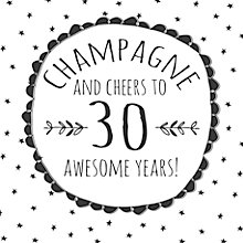 Buy Hammond Gower Cheers To 30 Awesome Years Birthday Card Online at johnlewis.com