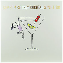 Buy Susan O'Hanlon Cocktails Greeting Card Online at johnlewis.com