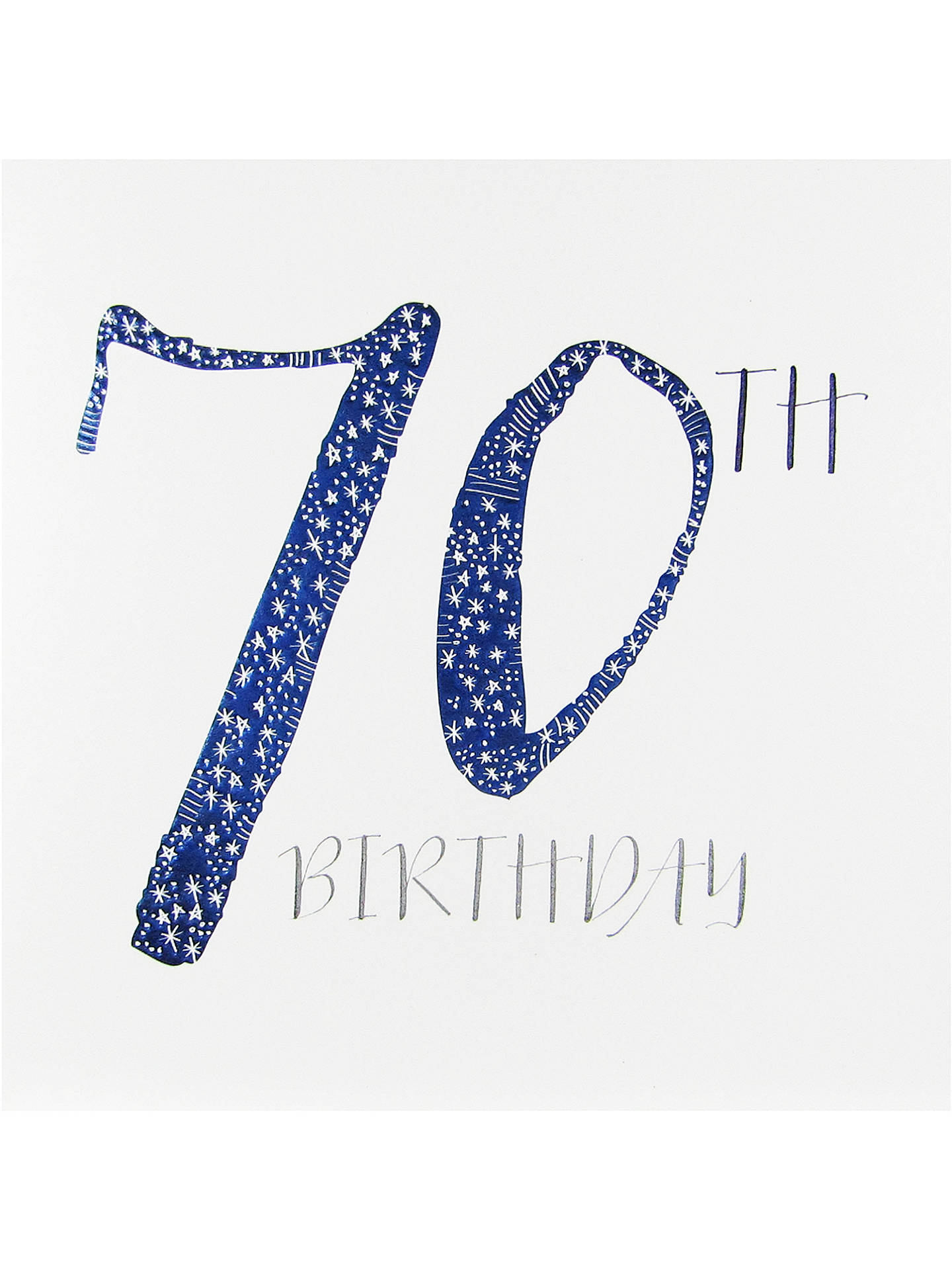Bellybutton Bubble 70th Birthday Card
