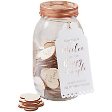 Buy Ginger Ray Wishing Jar Wedding Guest Book Online at johnlewis.com