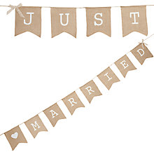 Buy Ginger Ray 'just Married' Hessian Bunting Online at johnlewis.com
