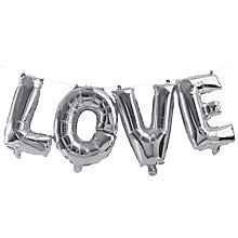 Buy Ginger Ray Love Balloon Bunting Online at johnlewis.com