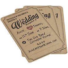 Buy Ginger Ray Wedding Evening Invitations, Pack of 10 Online at johnlewis.com