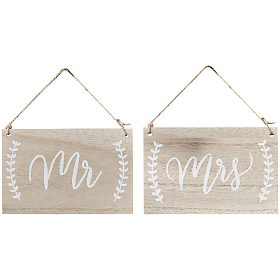 Ginger Ray Mr And Mrs Wooden Chair Hanging Signs