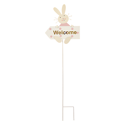 John Lewis Happy Easter 'Welcome' Pick Sign, Large