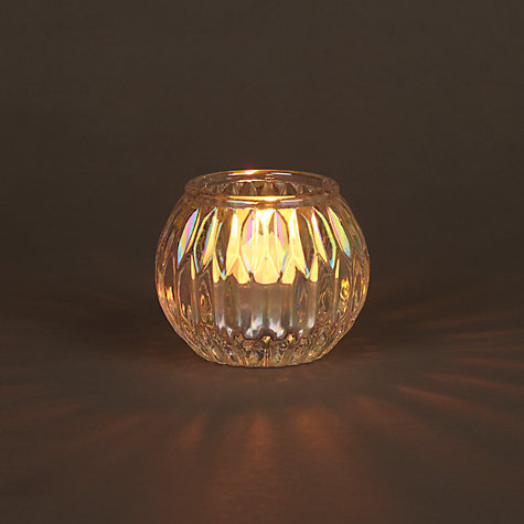 Buy John Lewis Iridescent Glass Tealight Holder Online at johnlewis.com