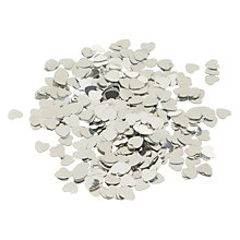 Buy John Lewis Heart Scatter Table Confetti, Silver Online at johnlewis.com