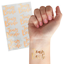 Buy Ginger Ray Hen Party Team Bride Temporary Tattoos, Pack of 16 Online at johnlewis.com