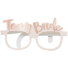 Buy Ginger Ray Hen Party Team Bride Fun Glasses, Pack of 8 Online at johnlewis.com