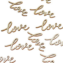 Buy Ginger Ray Wooden 'Love' Table Confetti Online at johnlewis.com