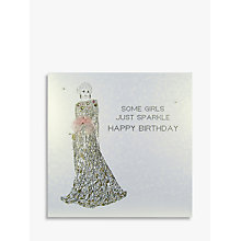 Buy Five Dollar Shake Some Girls Just Sparkle Birthday Card Online at johnlewis.com