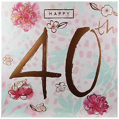 Product photo of Cardmix happy 40th birthday card