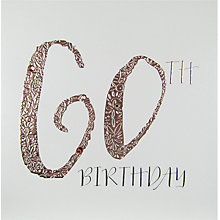 Buy Belly Button Designs 60th Birthday Card Online at johnlewis.com