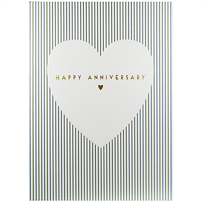 Art File White Heart With Gold Greeting Card