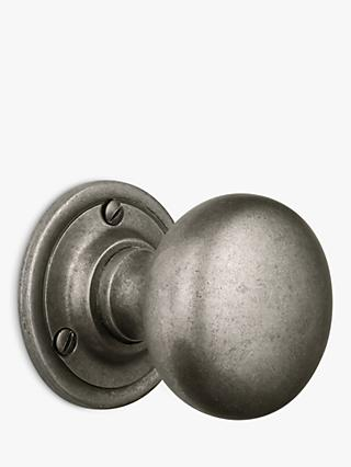 John Lewis & Partners Mortice Knobs, Set of 2, Dia.64mm