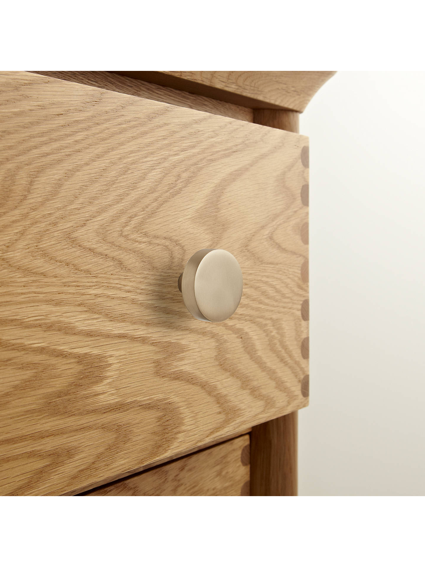 BuyDesign Project by John Lewis No.114 Cupboard Knob, Brushed Brass Online at johnlewis.com