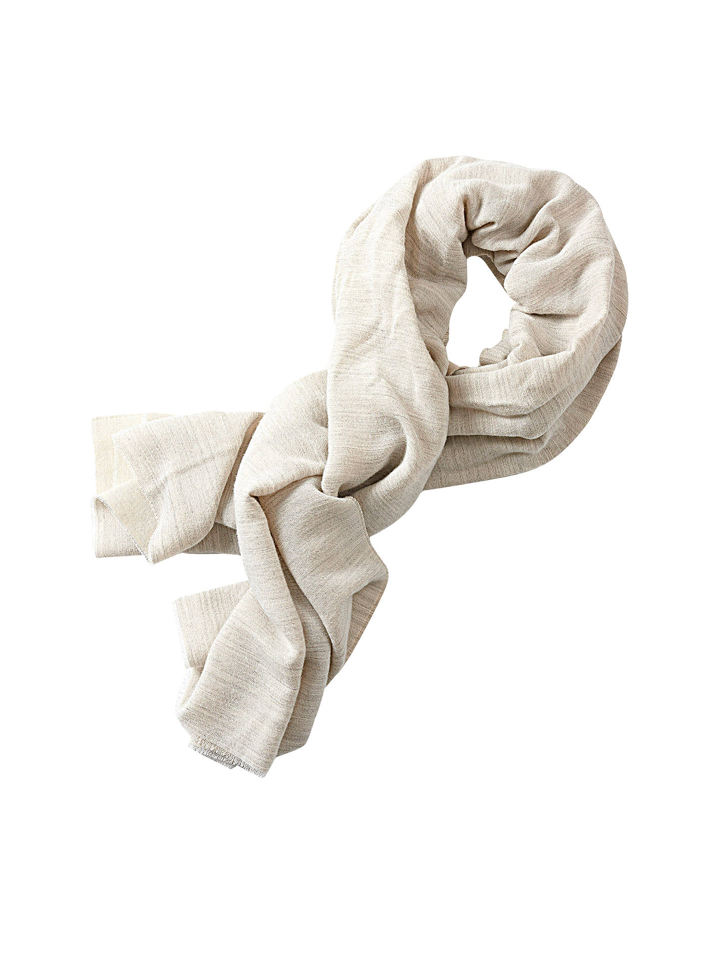 BuyBetty & Co. Long Textured Scarf, Grey/Nature Online at johnlewis.com
