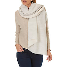 Buy Betty & Co. Long Textured Scarf, Grey/Nature Online at johnlewis.com