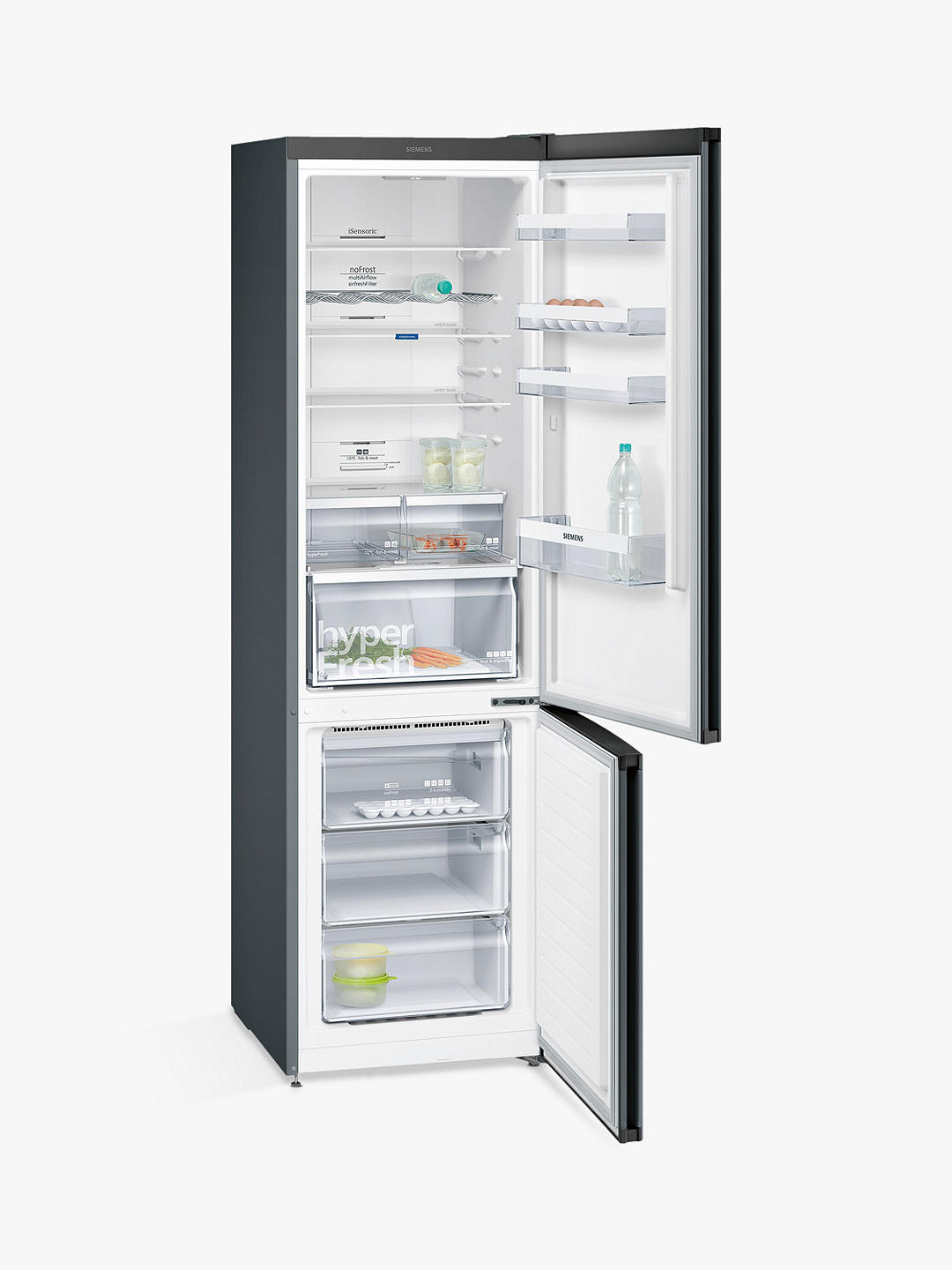 Buy Siemens KG39NXB35G Freestanding Frost Free 70/30 Fridge Freezer, A++ Energy Rating, 60cm Wide, Black Steel Online at johnlewis.com