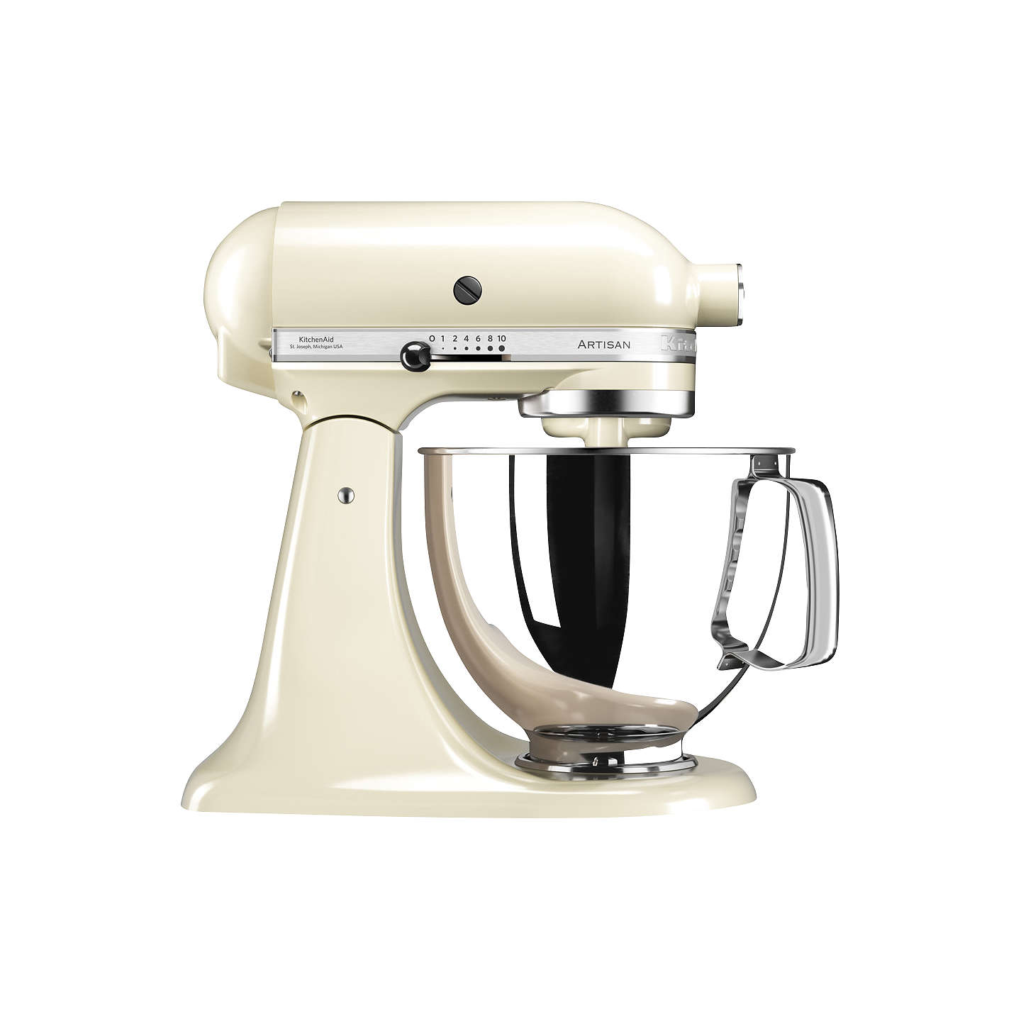 BuyKitchenAid 125 Artisan 4.8L Stand Mixer, Almond Cream Online at johnlewis.com