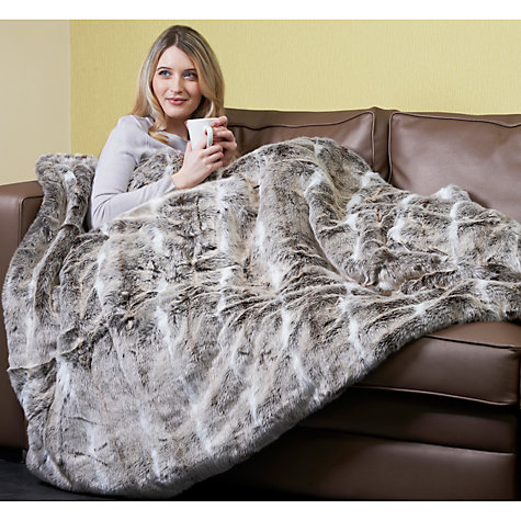 Buy Dreamland 16340 Faux Fur Throw Heated Electric Blanket