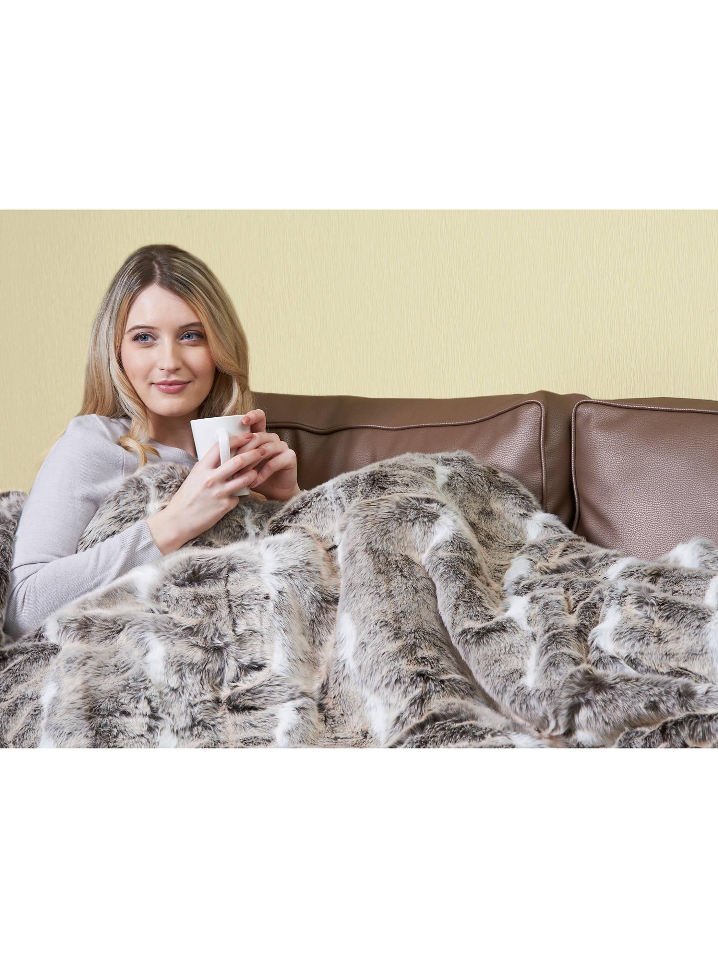 Dreamland 16340 Faux Fur Throw Heated Electric Blanket