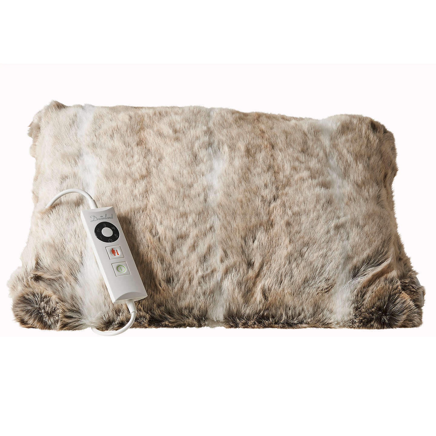 Relaxwell Deluxe Faux Fur Heated Cushion At John Lewis